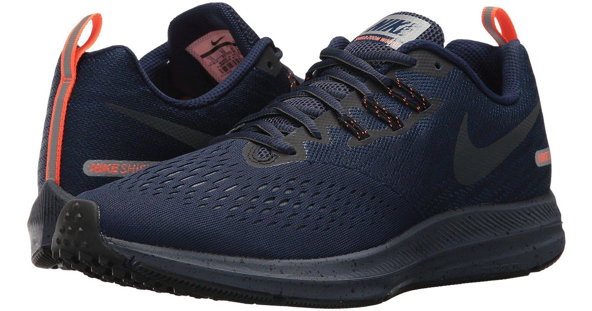 on sale 8265c 231ab Lyst - Nike Air Zoom Winflo 4 Shield in Blue for Men