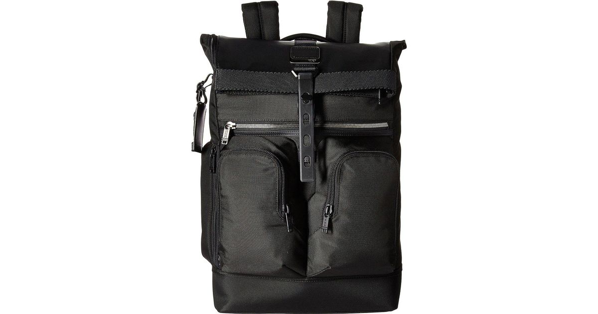 b19f705a53bc Lyst - Tumi Alpha Bravo London Roll-top Backpack (black) Backpack Bags in  Black for Men