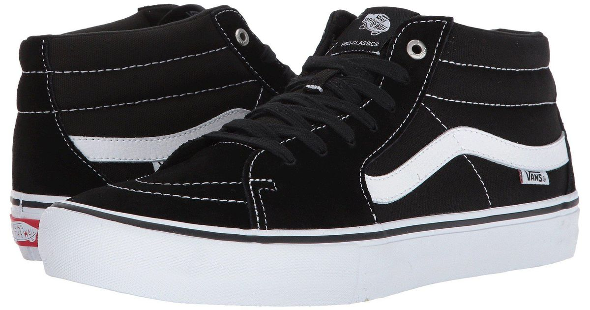 114d0d0c57 Lyst - Vans Sk8-mid Pro (black white) Men s Skate Shoes in Black for Men
