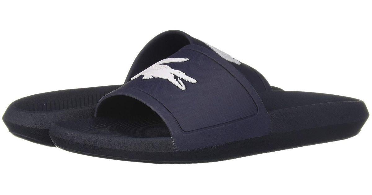 5dc2f38e7f26 Lyst - Lacoste Croco Slide 119 1 (green white) Men s Shoes in Blue for Men