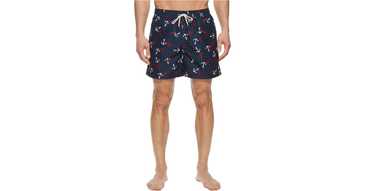 7bc8089972 ... get lyst polo ralph lauren polyester traveler shorts anchor knots mens  swimwear in blue for men