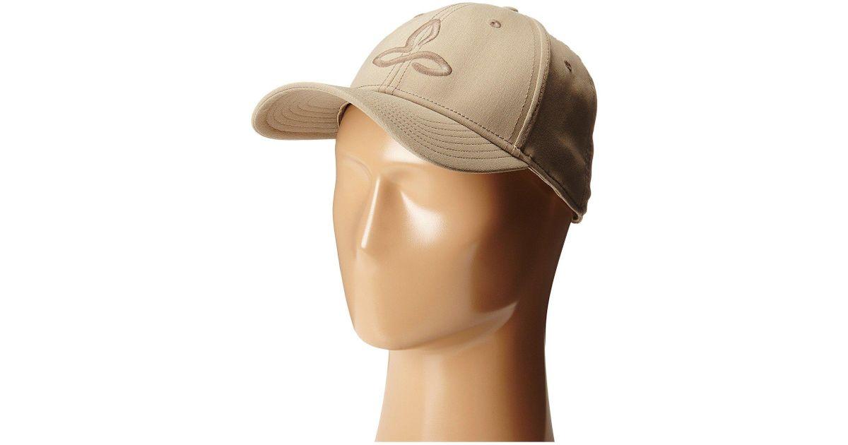 19ad5803cd28e Lyst - Prana Zion Ball Cap (dark Khaki) Baseball Caps in Natural for Men