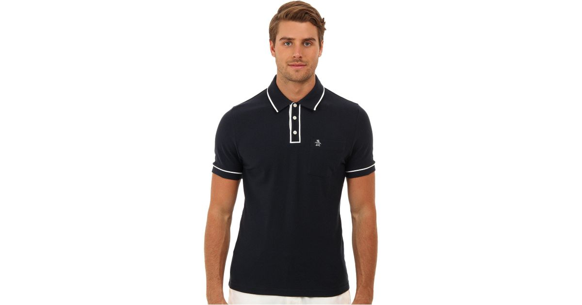 21404ea3e9ee8 Lyst - Original Penguin Earl Polo in Black for Men