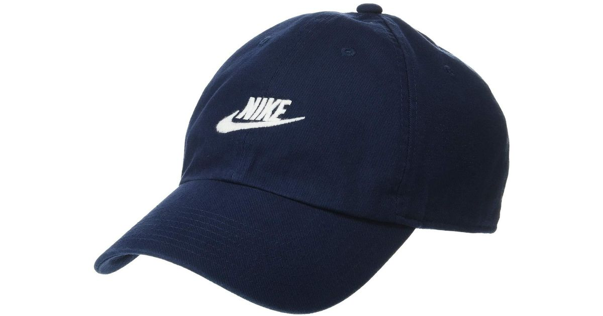 13b51f2f3de Lyst - Nike Sportswear H86 Futura Washed Cap (obsidian obsidian white)  Baseball Caps in Blue for Men