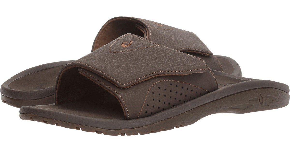 ... 8604a fb3aa Lyst - Olukai Nalu Slide (blackblack) Mens Slide Shoes in  Brown for ... 15263536c655