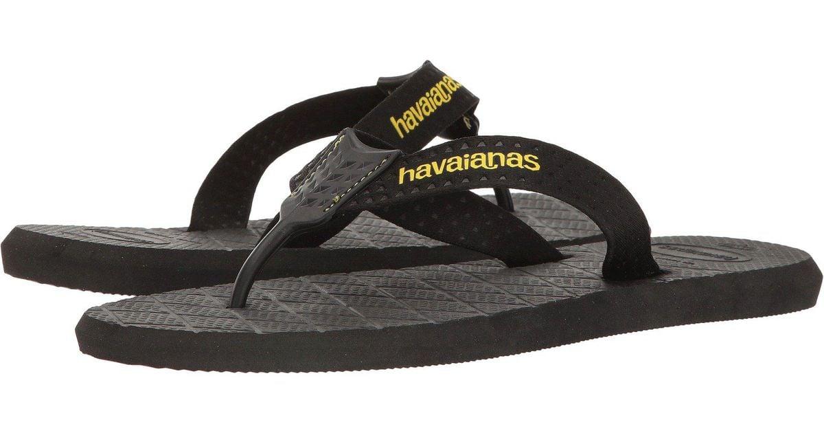 8c5223540 Lyst - Havaianas Level Flip Flops in Black for Men - Save 53.125%