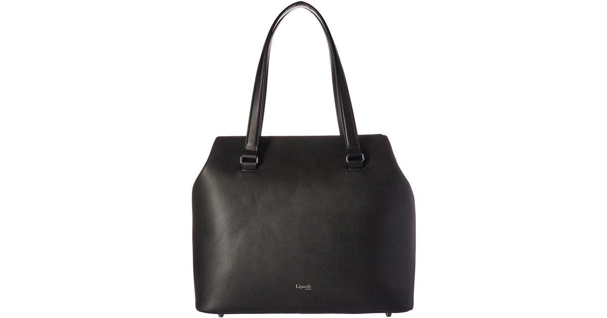 72ed54a2080437 Lyst Lipault Plume Elegance Large Tote Bag Cognac Handbags