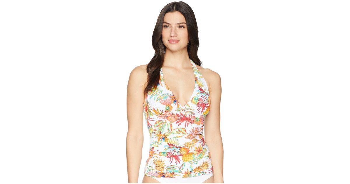 dbf3050eae987 Lyst - Bleu Rod Beattie Halter Tankini W/ Molded Cup (white) Women's  Swimwear in White