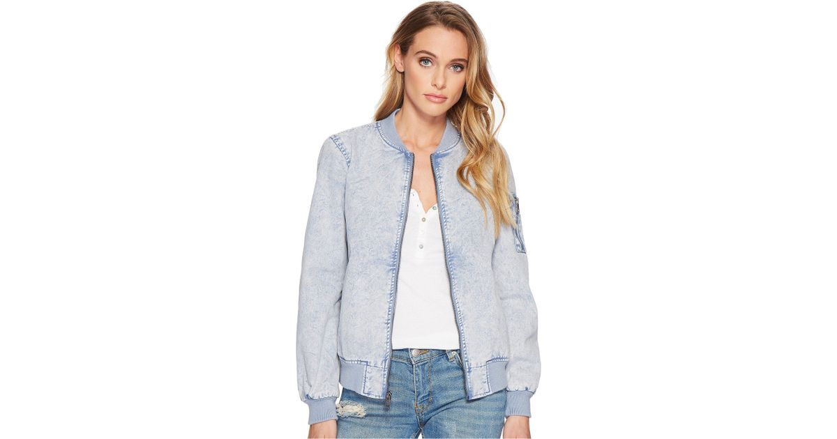 80dacff9568 Lyst - Levi s Acid Wash Cotton Bomber Jacket in Blue - Save 47%