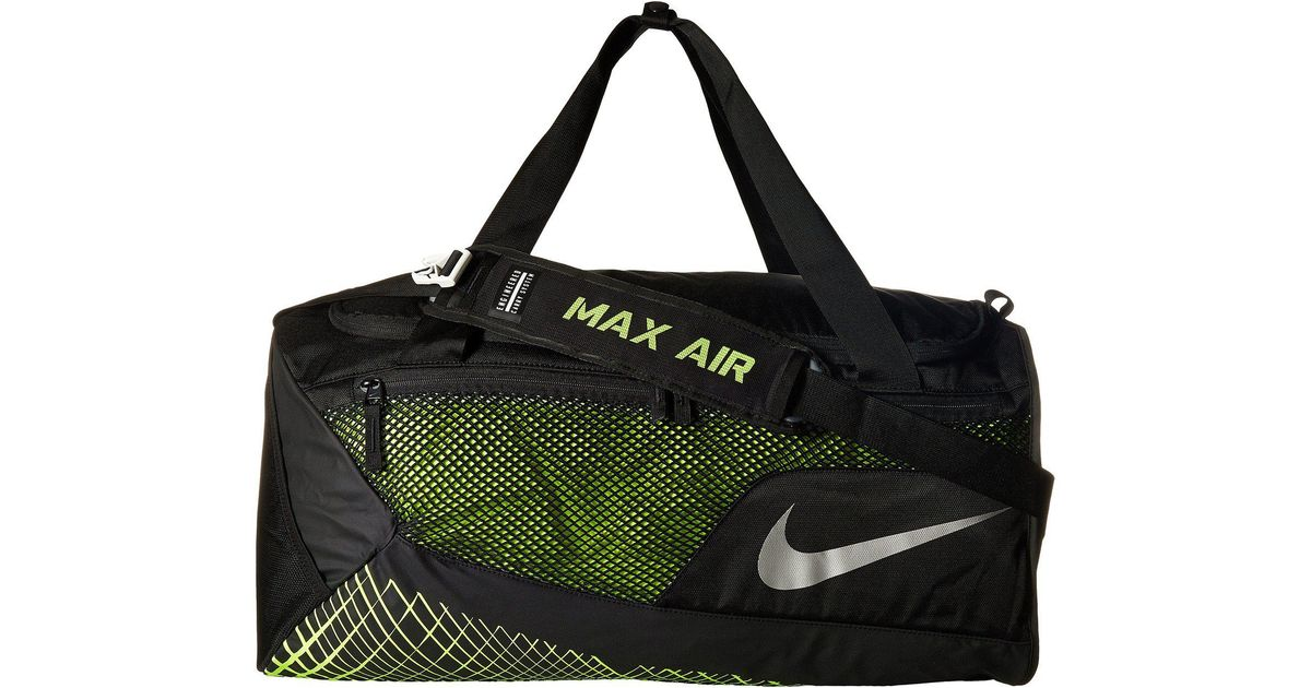 Lyst - Nike Vapor Max Air Training Medium Duffel Bag (black volt metallic  Silver) Duffel Bags for Men d9a7002de7ee1