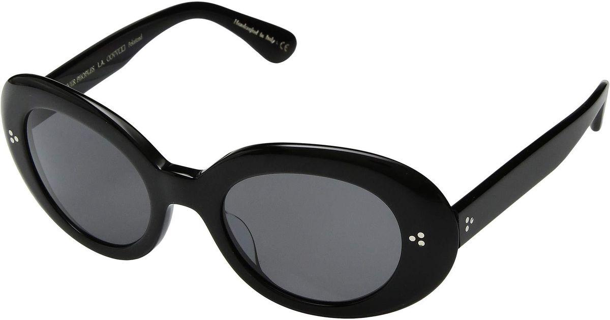 d354a44d11 Lyst - Oliver Peoples Erissa (dark Honey amaretto Gradient Lens) Fashion  Sunglasses in Black