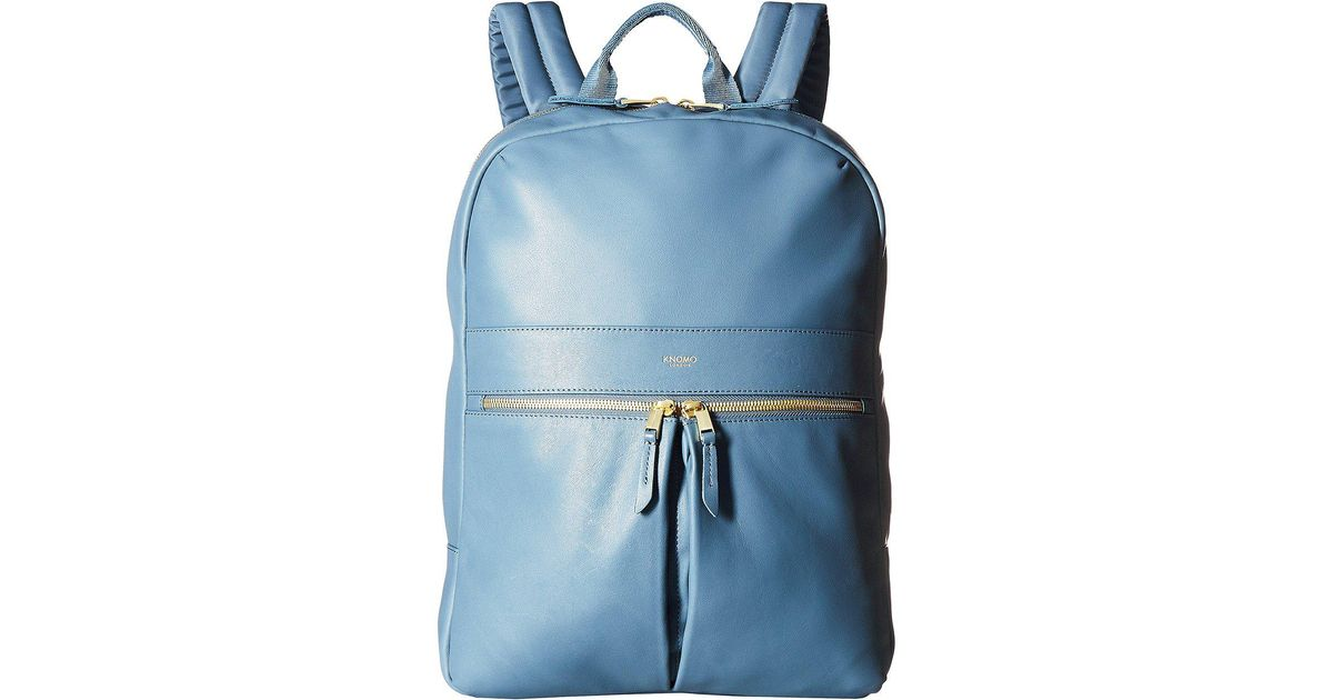 ab6c29768e2a Knomo Mayfair Luxe Beaux Leather Backpack (stonewash Blue) Backpack Bags in  Blue - Lyst
