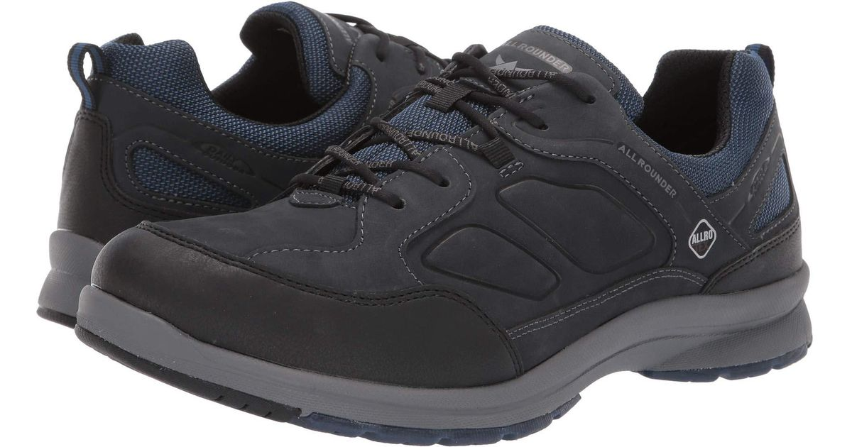 bf436ed8cda Lyst - Mephisto Caletto Tex (black Rubber/dark Blue Nubuck) Men's Lace Up  Casual Shoes in Blue for Men