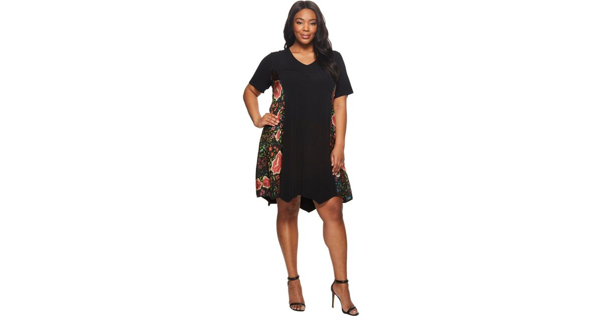 Lyst Johnny Was Plus Size Emby Scarf Mix Tunic Dress In Black