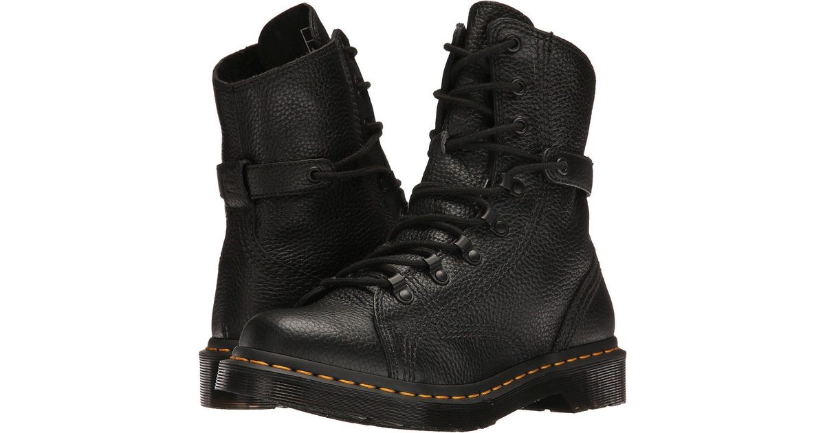 Lyst - Dr. Martens Coraline In Aunt Sally Leather Combat Boot in Black -  Save 36% dd3e49d24bac