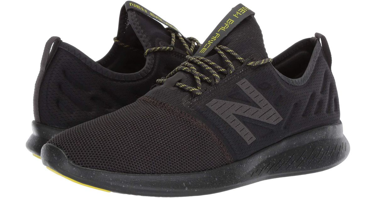 huge discount 08799 bff13 New Balance Fuelcore Coast V4 City Stealth (phantom/limeade) Running Shoes  in Black for Men - Save 17% - Lyst
