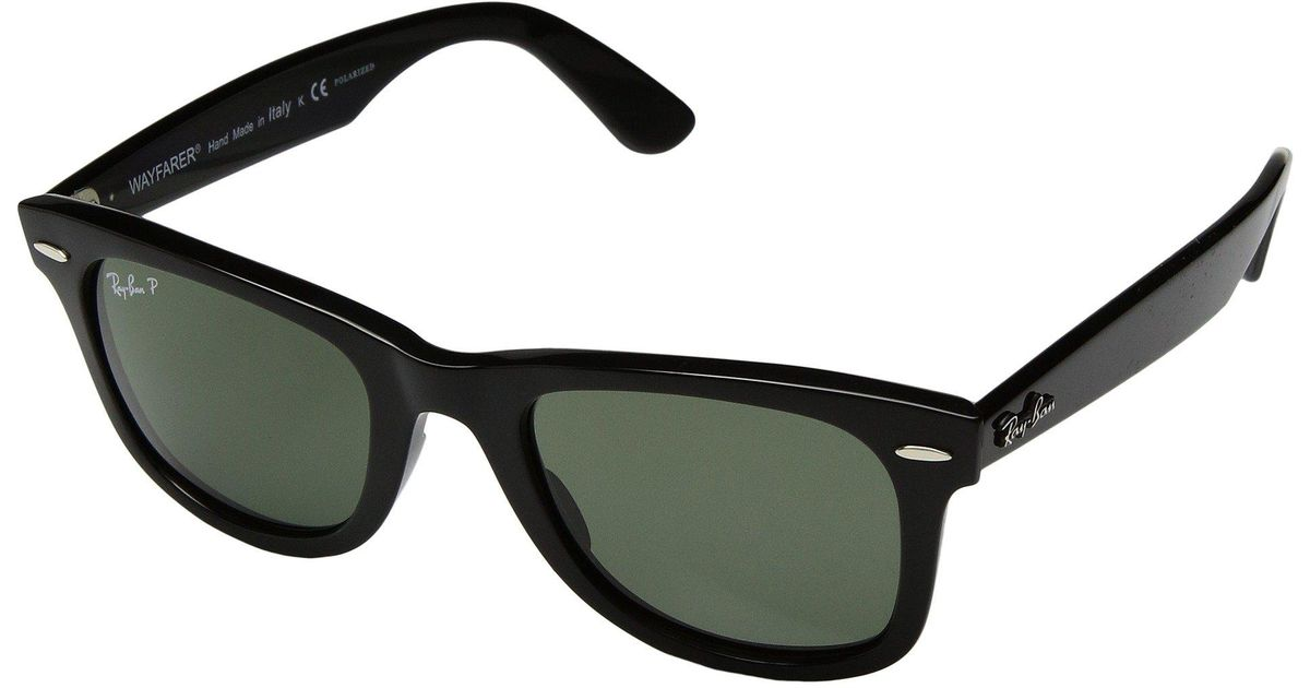 Lyst - Ray-Ban Wayfarer Ease Rb4340 50mm (black polarized Green Classic  G-15) Fashion Sunglasses in Black 068c029ccc25b