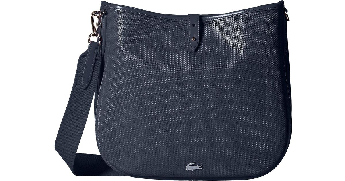 Lyst - Lacoste Chantaco Hobo Bag in Blue 09bf8946acfc3