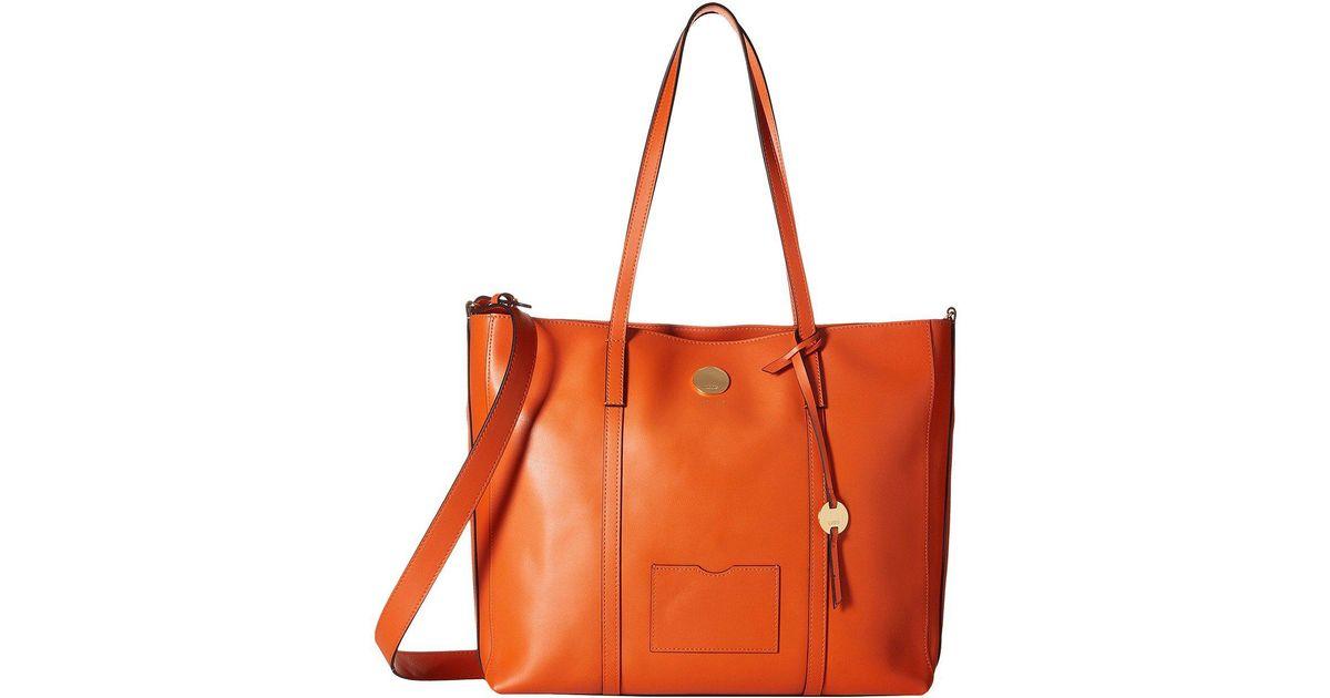 Lyst Lodis Laguna Rfid Nelly Medium Tote Papaya Handbags In Orange