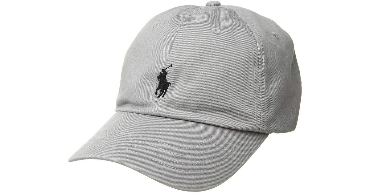 22e16542a7b03 Lyst - Polo Ralph Lauren Classic Sport Cotton Chino Hat (soft Grey) Caps in  Gray for Men