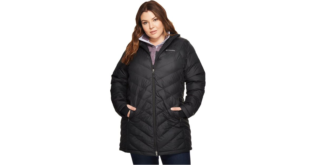 519ca9cbaa76d Lyst - Columbia Heavenly Water Resistant Insulated Long Hooded Jacket in  Black