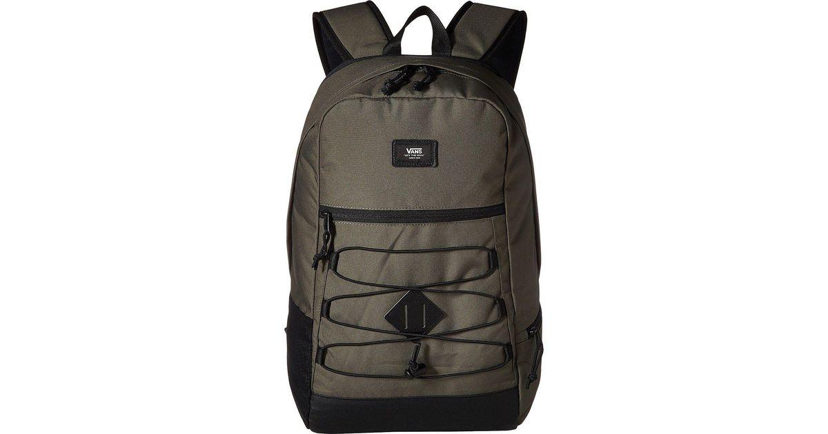 555195a1a0b Vans Snag Plus Backpack (grape Leaf) Backpack Bags in Black for Men - Lyst