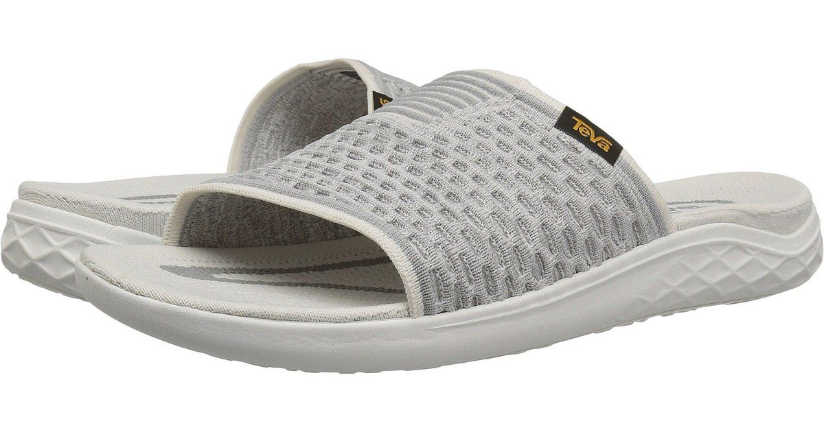 2cd57463d Lyst - Teva Terra-float 2 Knit Slide (bright White) Men s Shoes in Gray for  Men