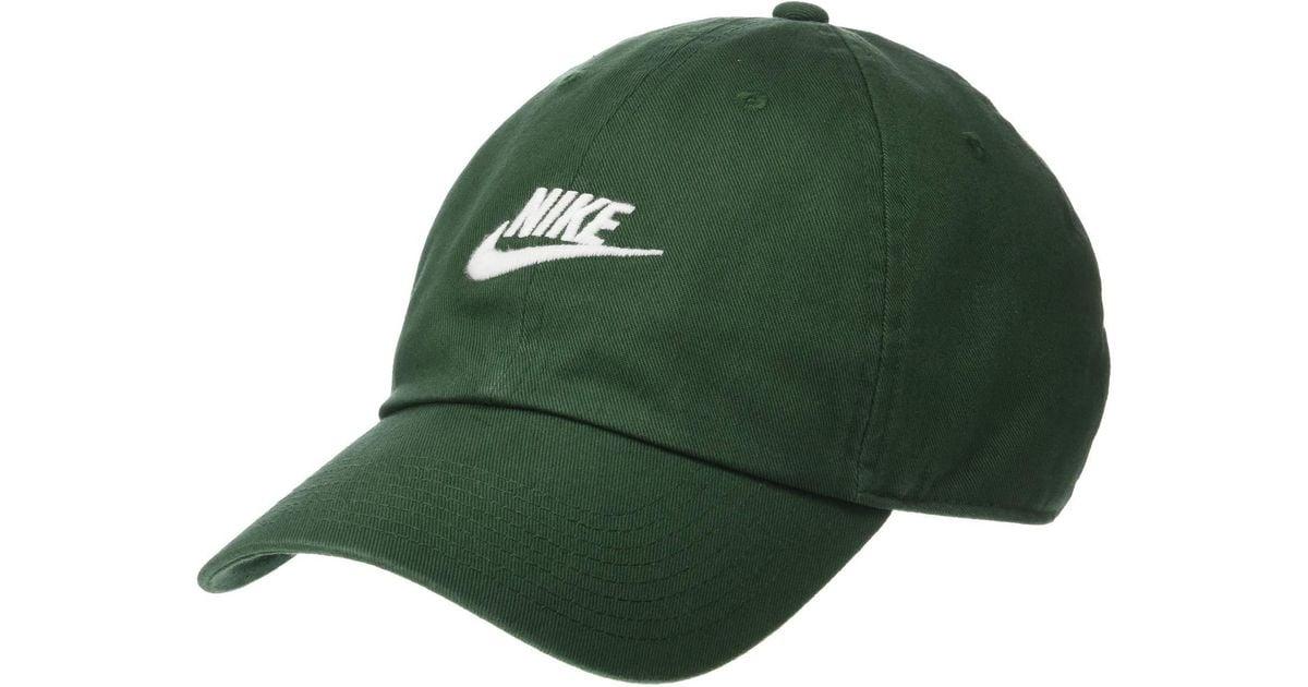 ee3d0f4d Lyst - Nike Sportswear H86 Futura Washed Cap (obsidian/obsidian/white)  Baseball Caps in Green for Men