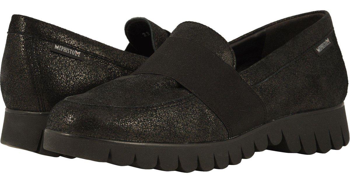 f00930fea59 Lyst - Mephisto Loriane (black Dali) Women s Slip On Shoes in Black
