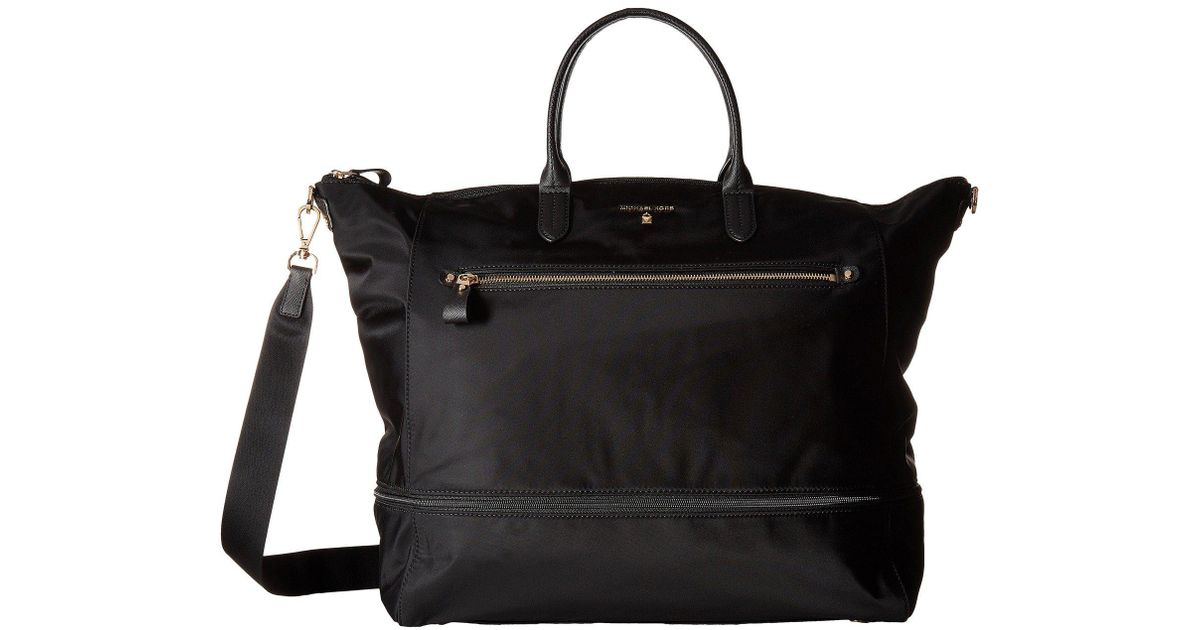 4aac1eb01 MICHAEL Michael Kors Nylon Kelsey Extra Large Expandable Travel Tote in  Black - Lyst