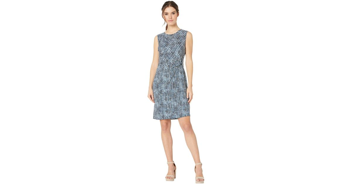 8a59e04d31b6 Lyst - NIC+ZOE Lattice Dress (multi) Women s Clothing in Blue