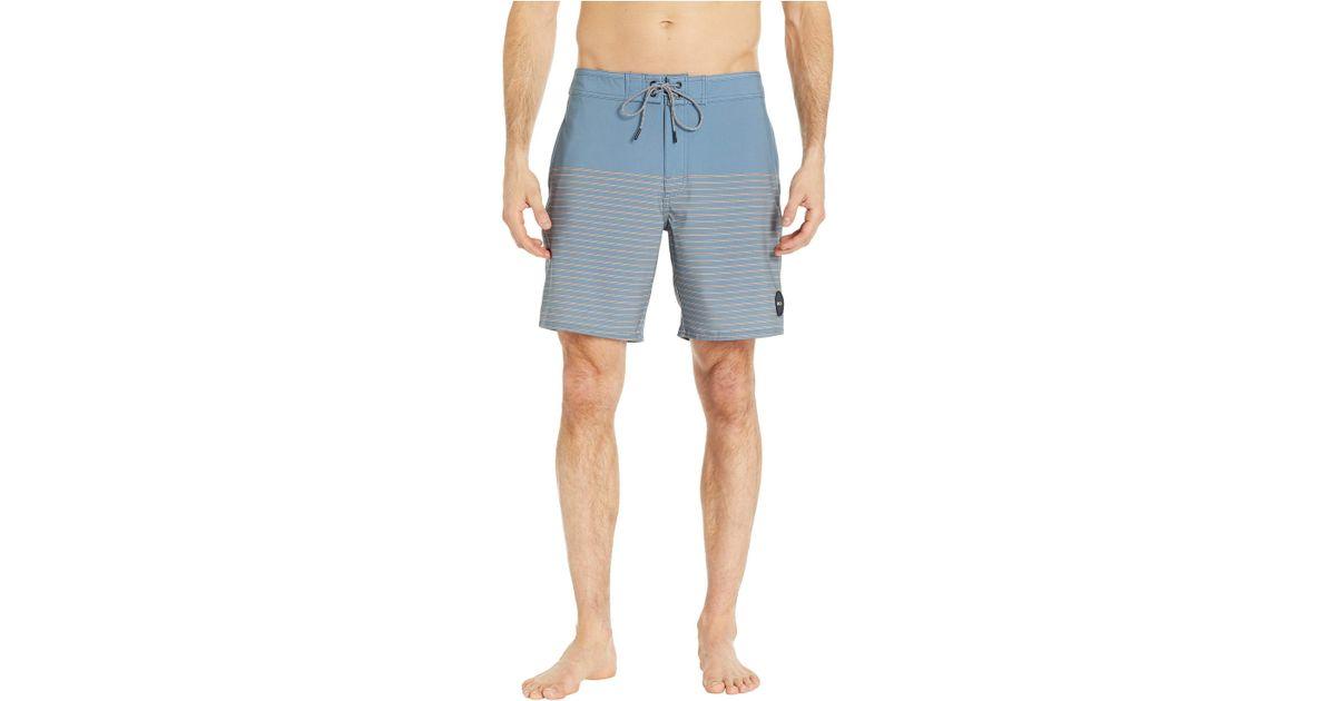 030c38d7b4 RVCA Curren Caples 18 Trunk (blue Slate) Swimwear in Blue for Men - Save  33% - Lyst
