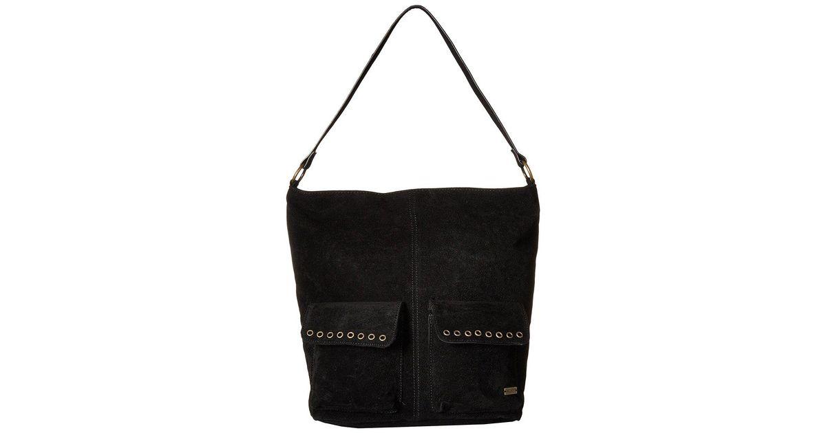 Lyst Roxy Break Things Medium Tote Bag True Black Handbags In