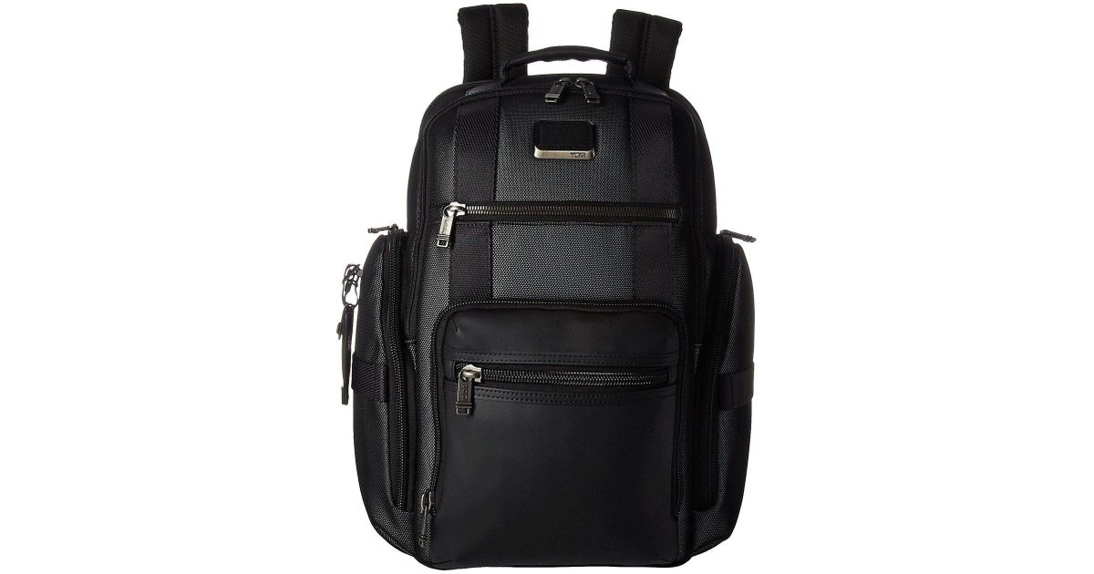 4a578f2c11 Lyst - Tumi Alpha Bravo Sheppard Deluxe Brief Pack(r) (arctic Restoration)  Briefcase Bags in Black for Men