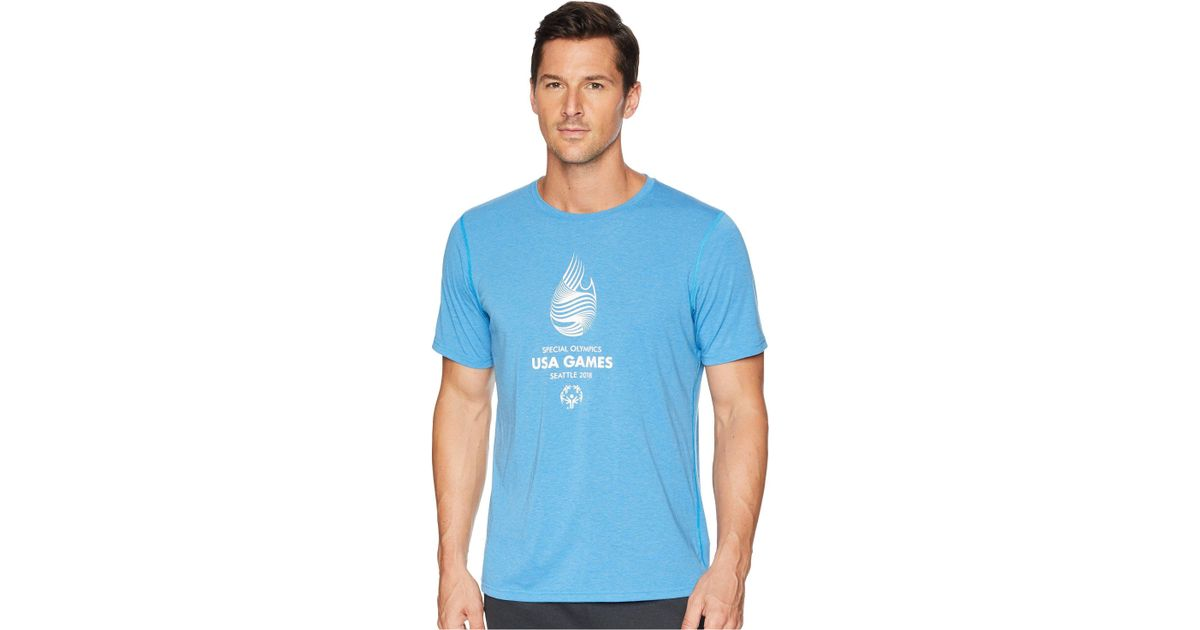 43101dfead7 Lyst - Brooks Usa Games Event Short Sleeve in Blue for Men - Save 46%