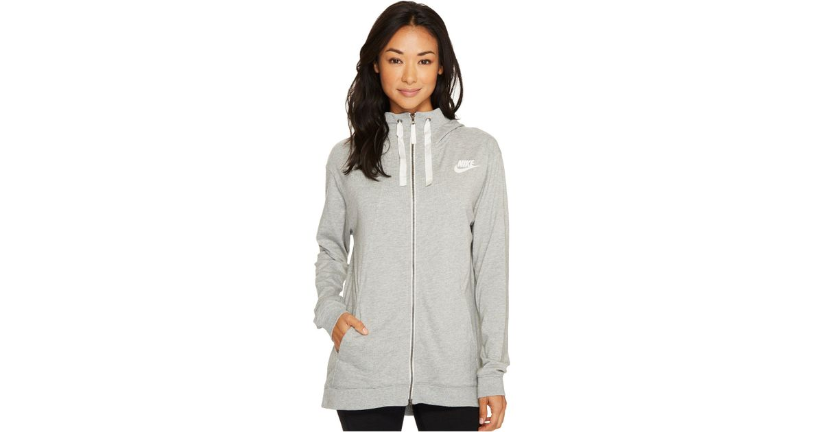 b7e185e5a108 Lyst - Nike Sportswear Gym Classic Full Zip Hoodie in Gray