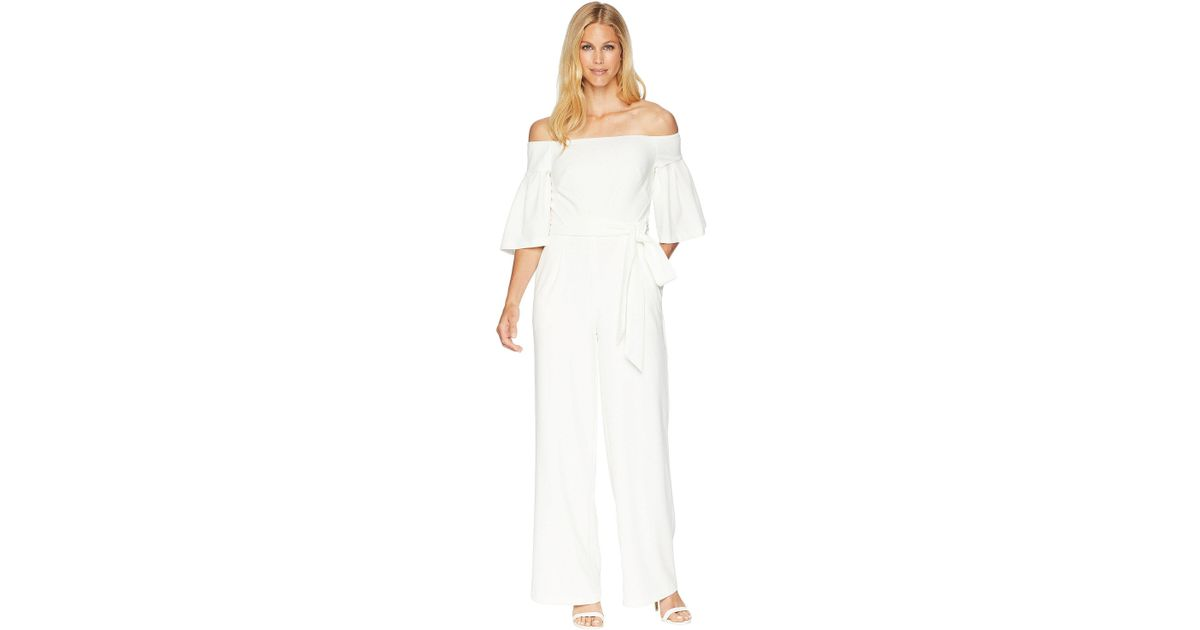 5bd8607b5e4f Lyst - Lauren by Ralph Lauren 130h Luxe Tech Crepe Ranada Jumpsuit (cream) Women s  Jumpsuit   Rompers One Piece in White