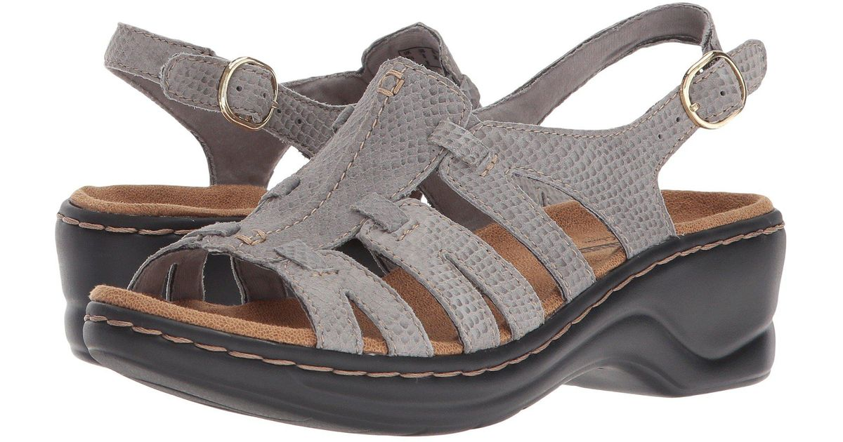1e7296272c9 Lyst - Clarks Lexi Marigold Q (pewter Leather) Women s Sandals in Gray