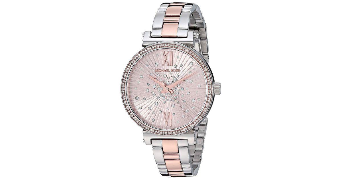 de53350e17a7 Lyst - Michael Kors Mk3972 - Sofie (two-tone) Watches