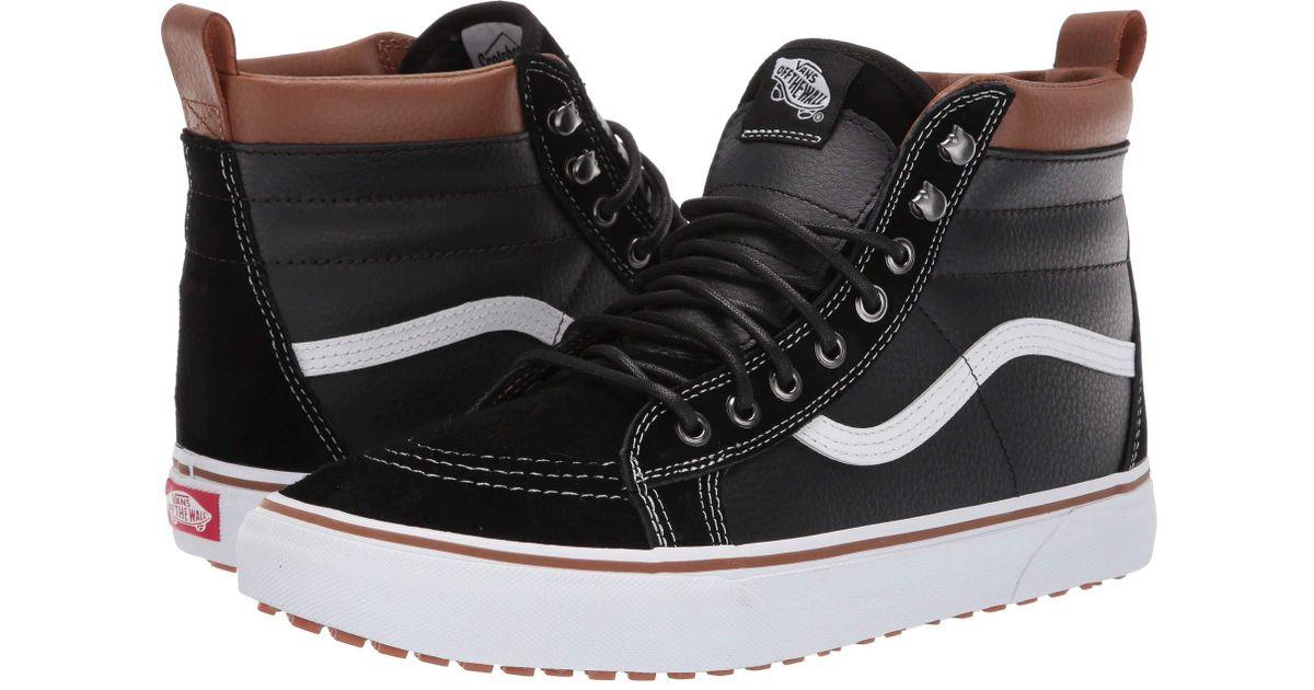 9c1d1d9828b Lyst - Vans Sk8-hi Mte ((mte) Black gum) Skate Shoes in Black for Men