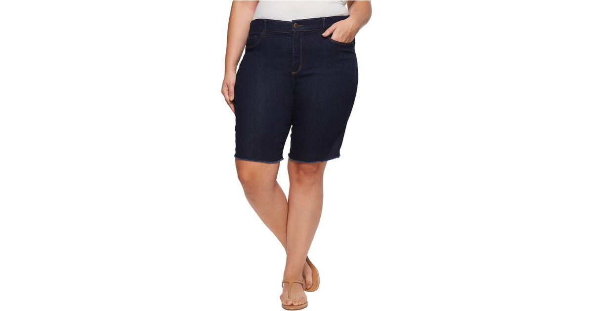 d5989fb103 Lyst - NYDJ Plus Size Briella Short With Fray Hem in Blue - Save 65%