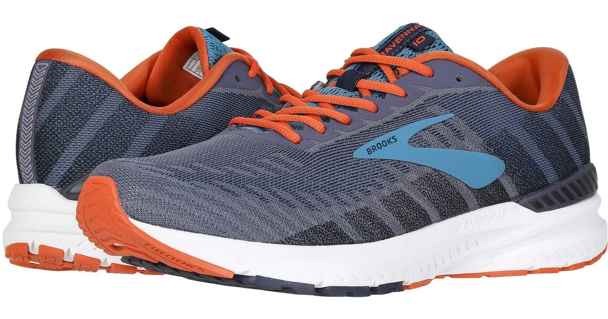 29b4924bf7a Lyst - Brooks Ravenna 10 (alloy blue nightlife) Men s Running Shoes in Blue  for Men