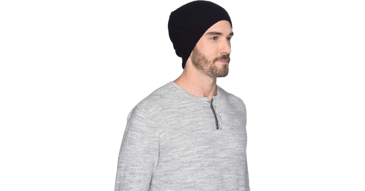Lyst - UGG Cardi Stitch Knit Hat (black) Beanies in Black for Men f89d2bda451