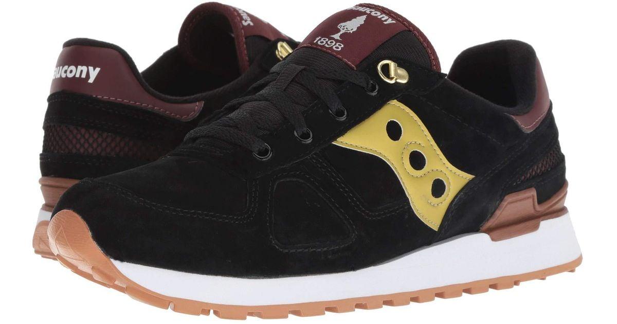 2e8cc7cd8849 Lyst - Saucony Shadow Original Suede Ranger (black gold) Men s Classic  Shoes in Black for Men