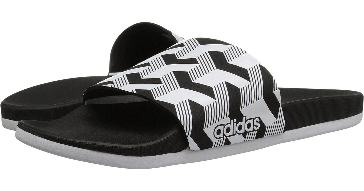 aa20944f3dd459 Lyst - adidas Adilette Cf+ Link Gr (black white black) Men s Slide Shoes in  Black for Men