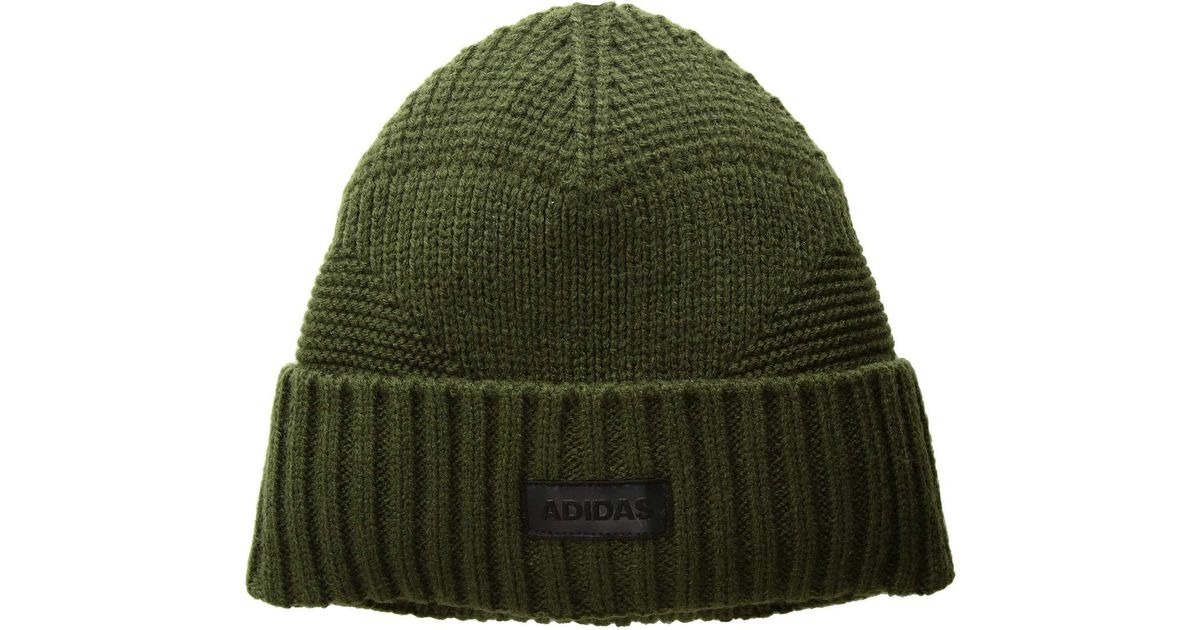 45ad02273 Adidas - Green Pine Knot Beanie (night Cargo/black) Beanies for Men - Lyst