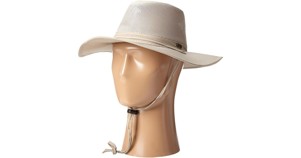 083c0912ed4583 Stetson Big Brim Mesh Safari With No Fly Zone Insect Shield Fabric (khaki)  Caps in Natural for Men - Save 24% - Lyst