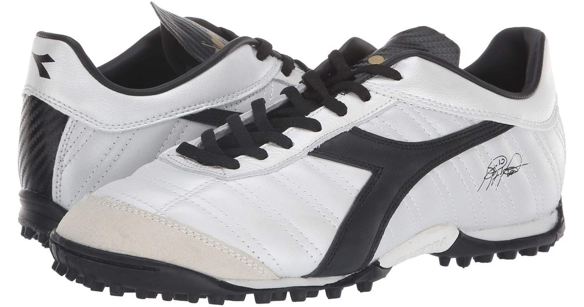 5cd85eec2 Diadora Baggio 03 Lt Tf (white Pearlized gold) Soccer Shoes in White for  Men - Lyst