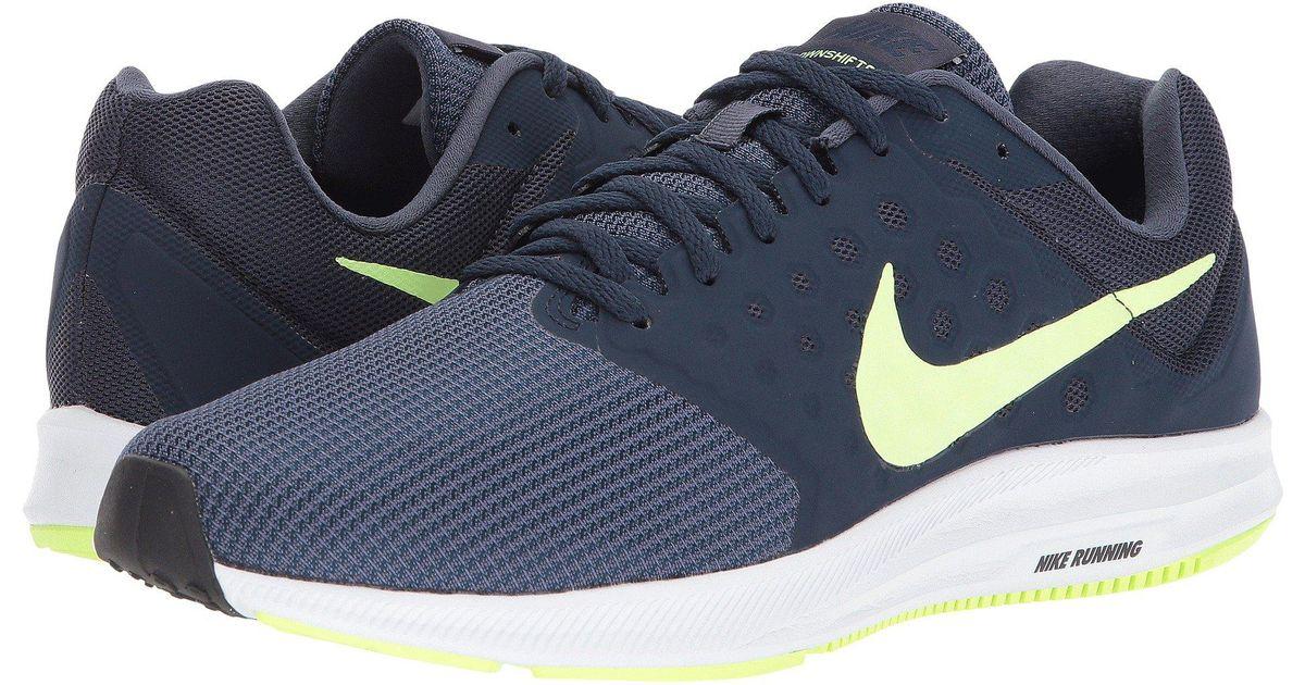1b55abfcac8c Lyst - Nike Downshifter 7 (midnight Navy white dark Obsidian black) Men s  Running Shoes in Blue for Men