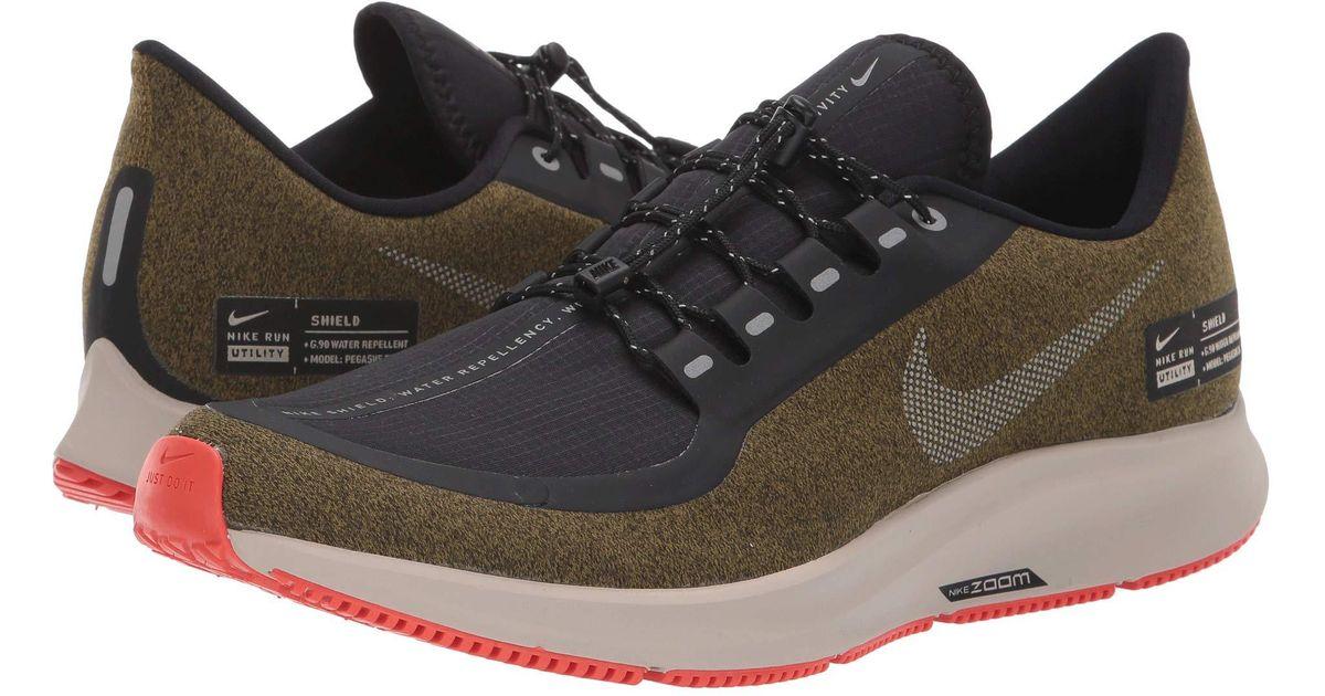 38868b910dc6c Lyst - Nike Air Zoom Pegasus 35 Shield (black metallic Silver blue Void)  Men s Running Shoes in Metallic for Men